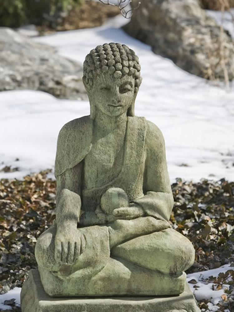 Young Seated Buddha Garden Statue