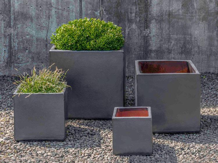 Hancock Planter-Metal Grey