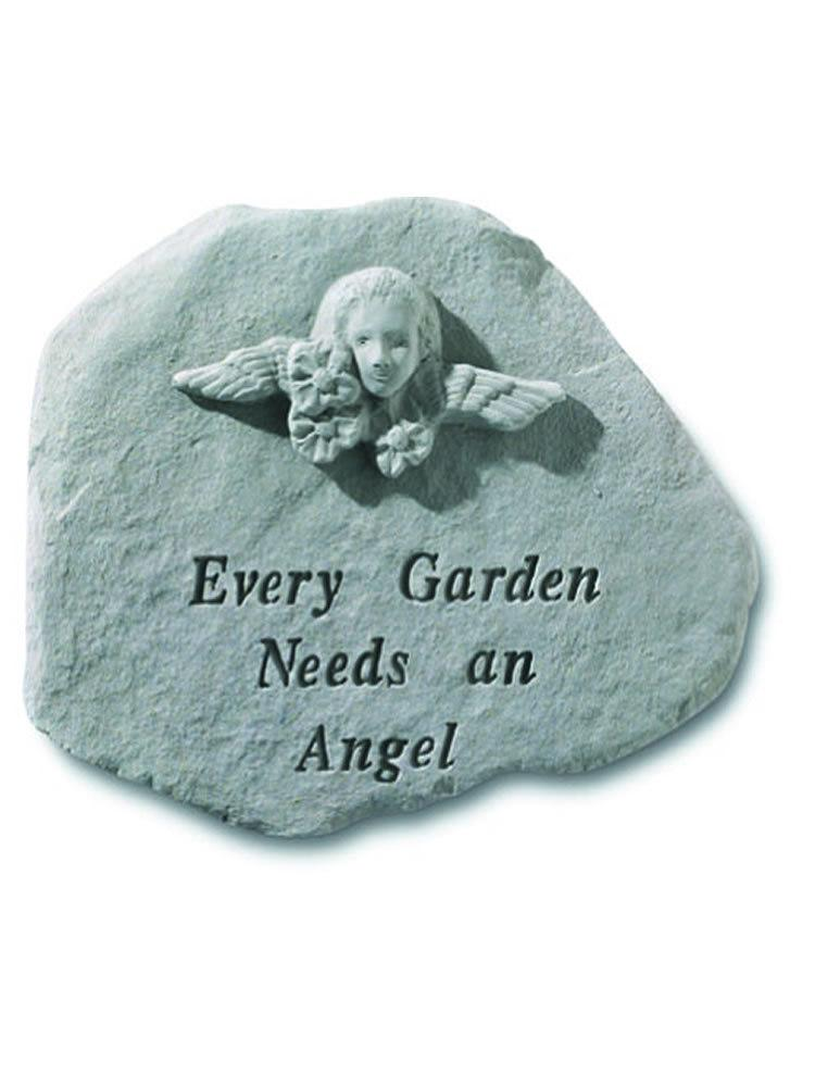 Every Garden Needs an Angel Stone Plaque