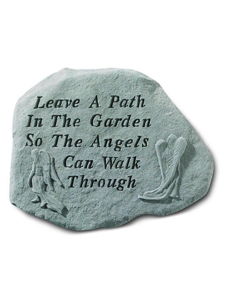 Leave a Path in the Garden Stone Plaque