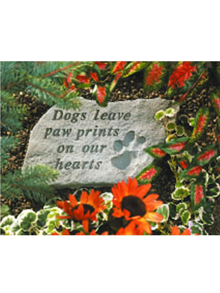 Dogs Leave Paw Prints Stone Plaque