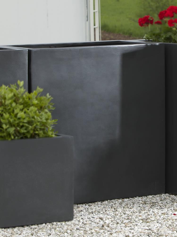 Modular Lite Planter 4 in Matte Black Lite