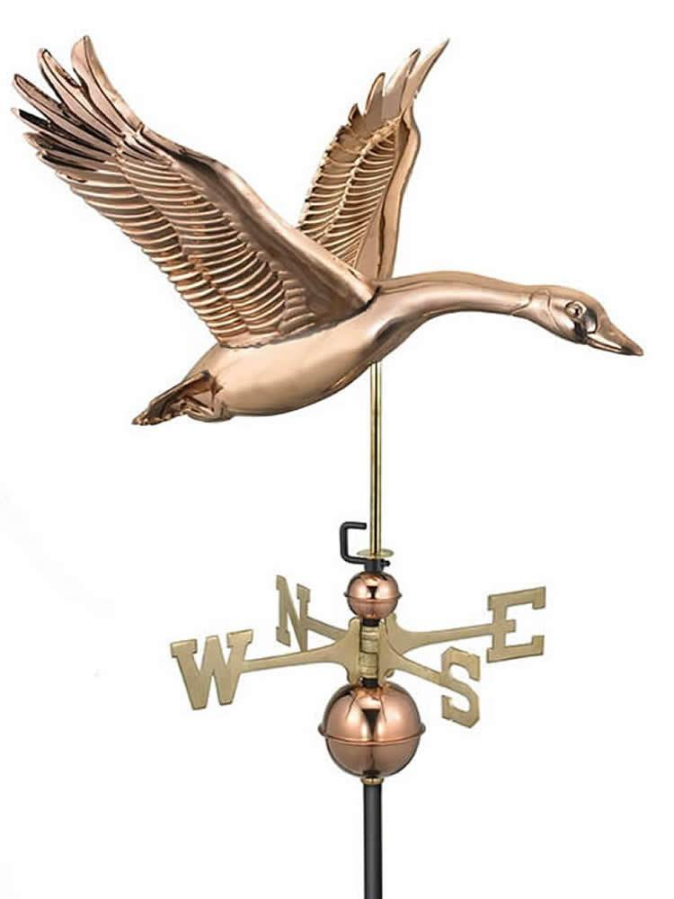 Copper Canadian Goose Weather Vane