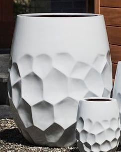 Prism Tall Planter - Large in Glossy White Lite