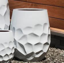 Prism Tall Planter - Medium in Glossy White Lite