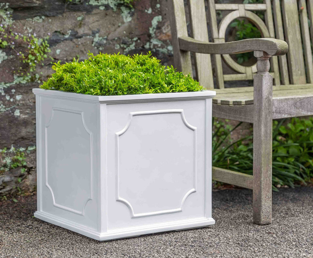 Cumberland Square Planter - Large in Glossy White Lite