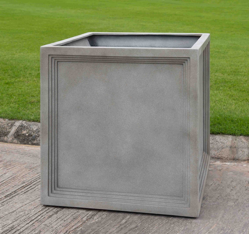 Extra Large Sandhurst Square Planter in Stone Grey Lite