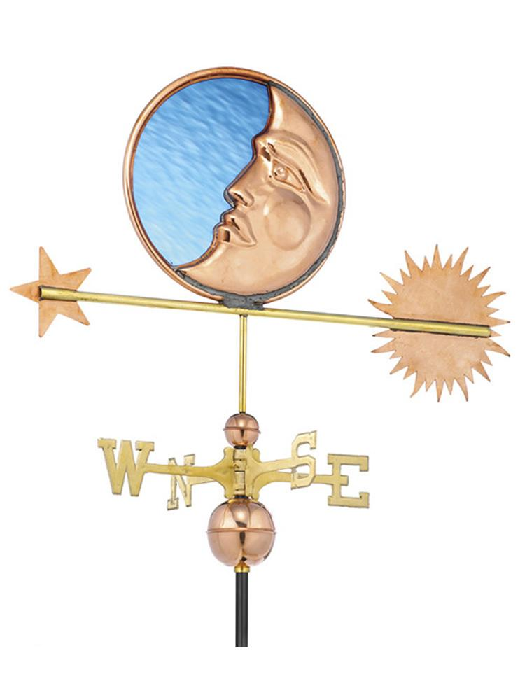 Artistic Moon Standard Weather Vane