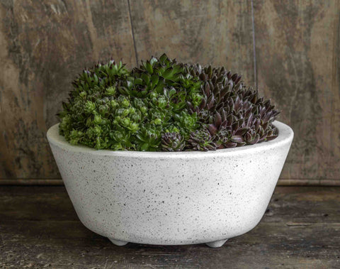 Geo Round Footed Planter in Terrazzo