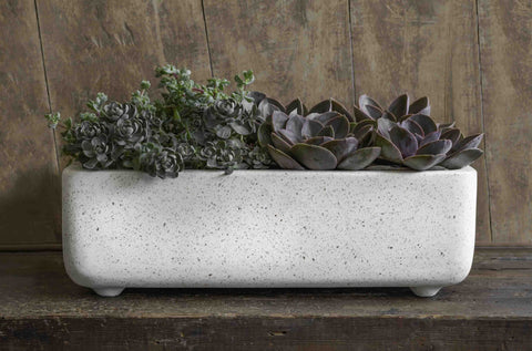 Geo Rectangular Footed Planter in Terrazzo