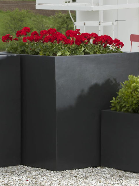 Modular Lite Planter 5 in Matte Black Lite