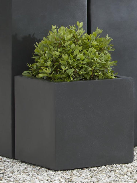 Modular Lite Planter 1 in Onyx Black Lite