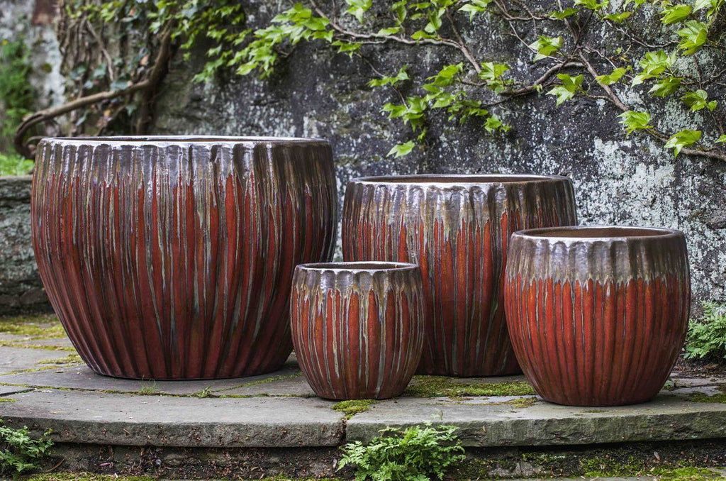 Andromeda Planter - Set of 4 in Bronze Garnet