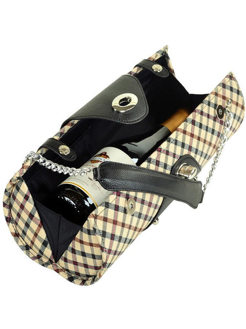 Wine Carrier & Purse - London Plaid
