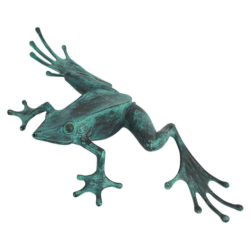 Tree Frog Cast Bronze Garden Statue