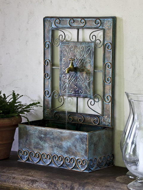 Montera Wall Fountain in Antique Copper