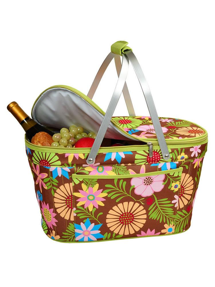 Collapsible Insulated Basket -Floral