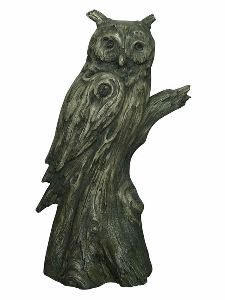 Owl Tree Trunk Statue