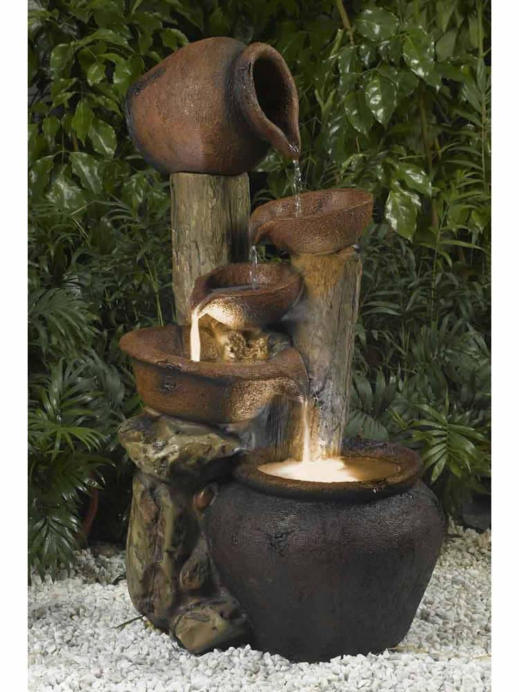 Jug and Bowl Tiered fountain