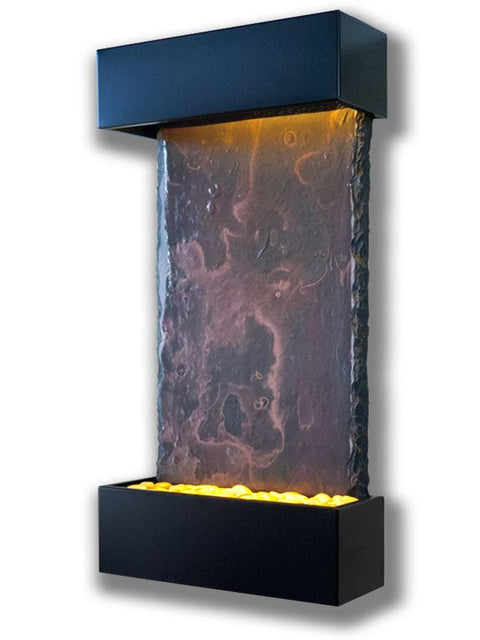 Medium Nojoqui Falls Wall Fountain in Black Trim