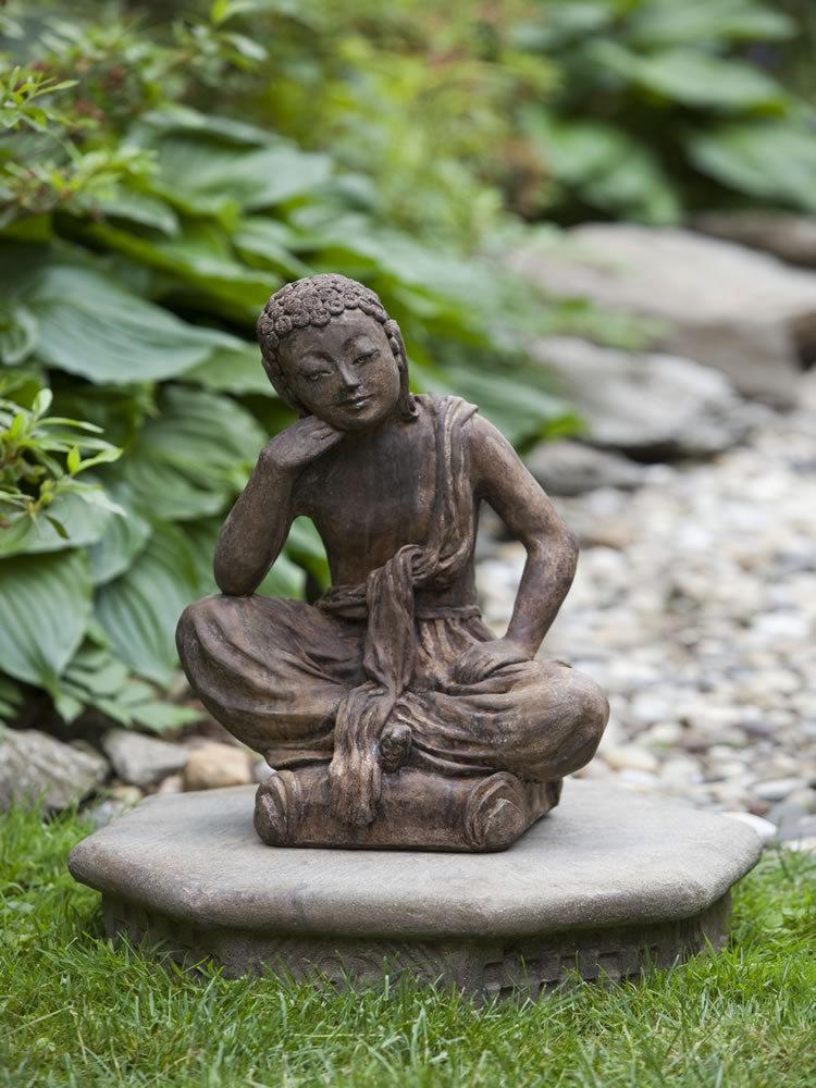 Asian Inspired Outdoor Garden Statuary: Seated Buddha, Small ...