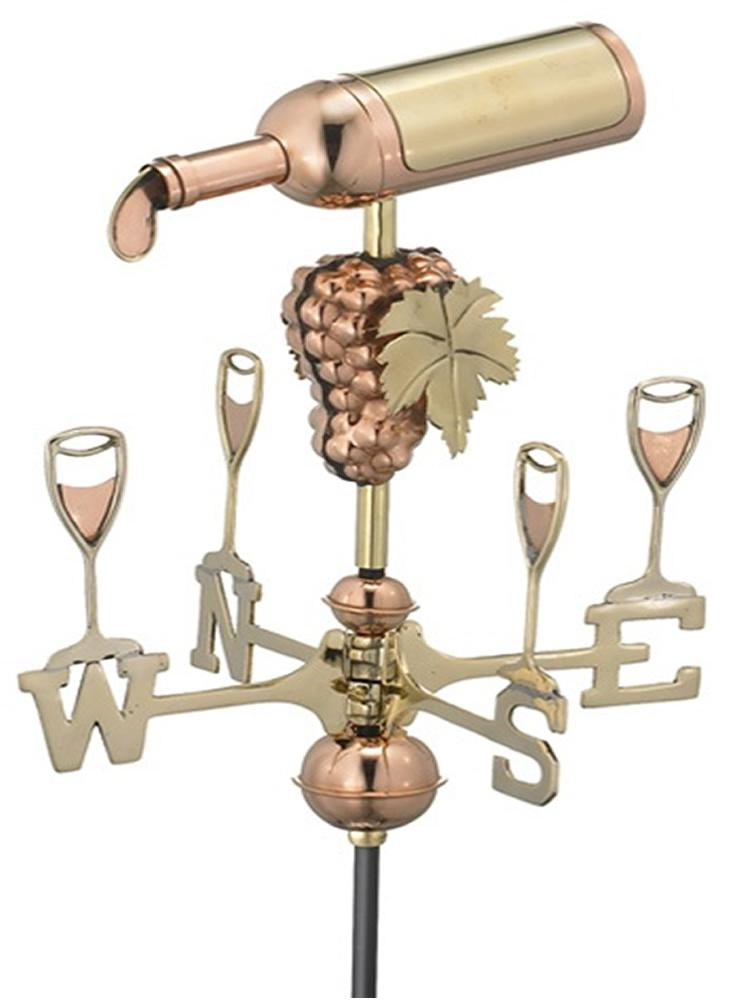 Wine Time Garden Weather Vane