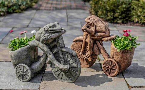 Tricycle Frog Planter