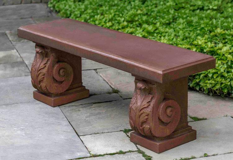 Manor House Scroll Bench