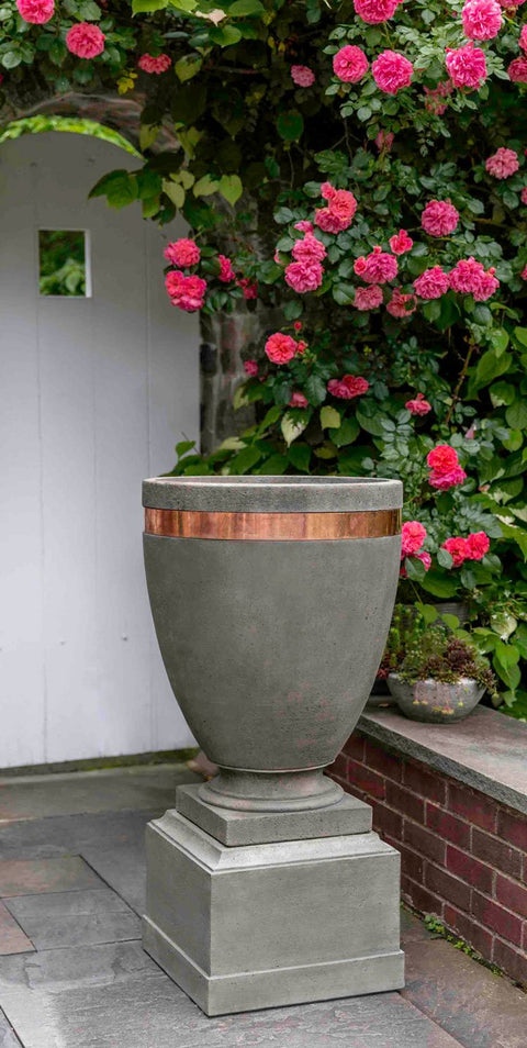 "Moderne Tall Planter w/ 12"" Ped"