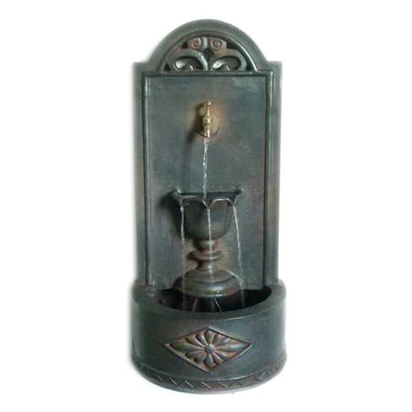 Old English Wall Fountain - Antique Bronze