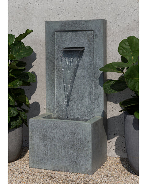 Tall Single Spiller Zinc Wall Fountain