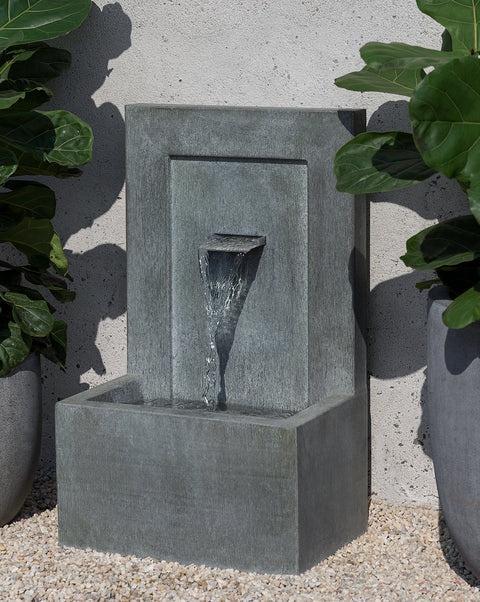 Single Spiller Zinc Wall Fountain