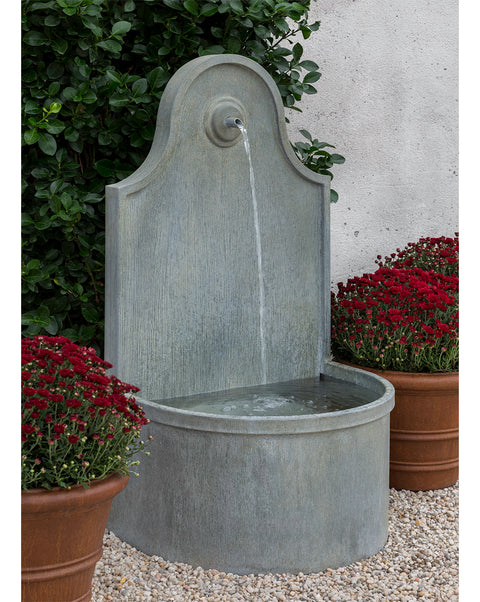 Round Basin Zinc Wall Fountain