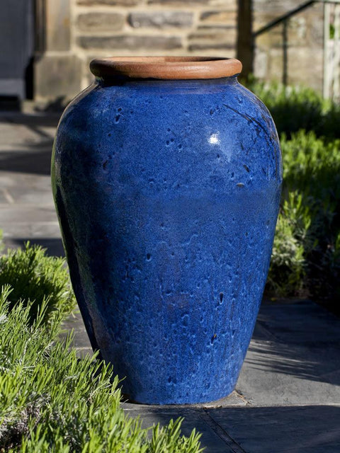 Binjai Jar in Rustic Blue