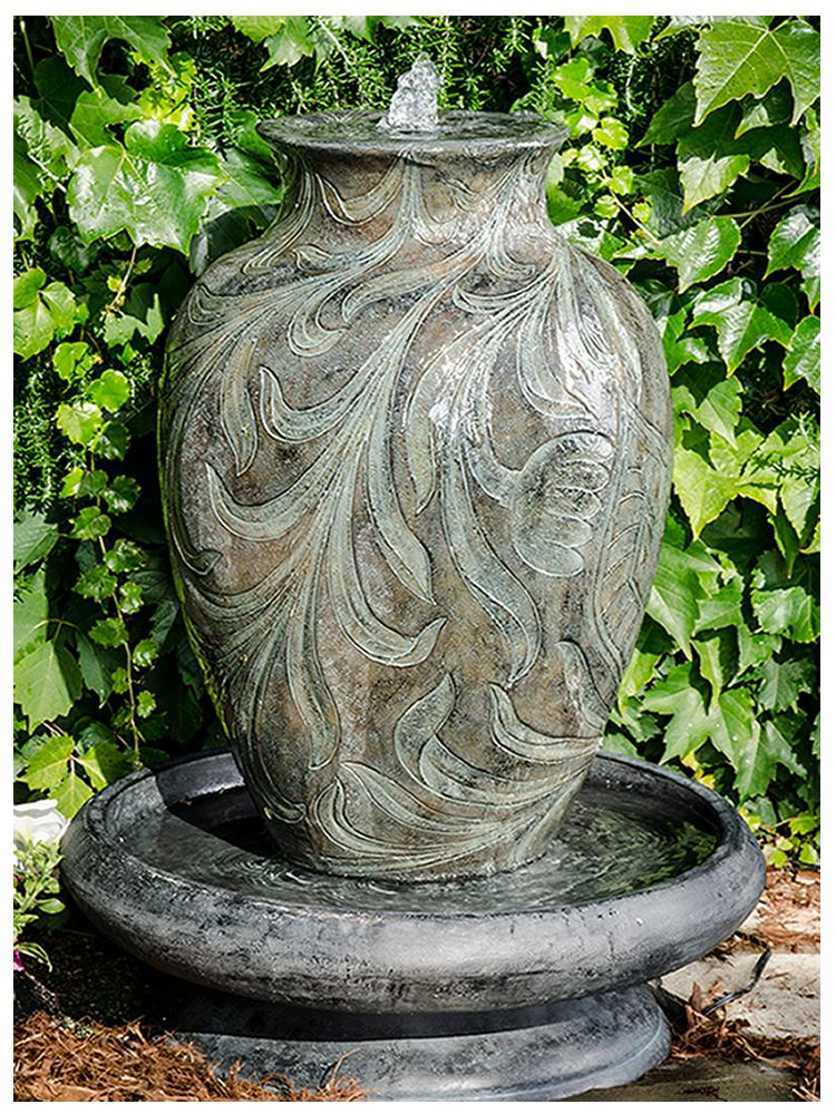 Decorative Urn In Bowl Fountain Garden Fountains Com