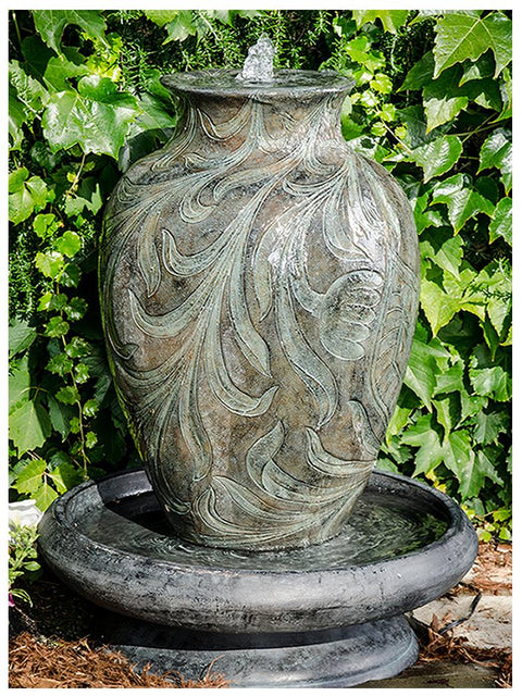Decorative Urn in Bowl Fountain