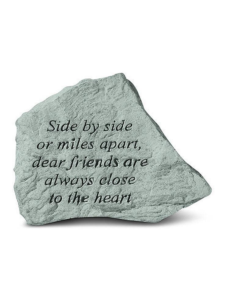 Side By Side or Miles Apart Mini Garden Stone/Plaque