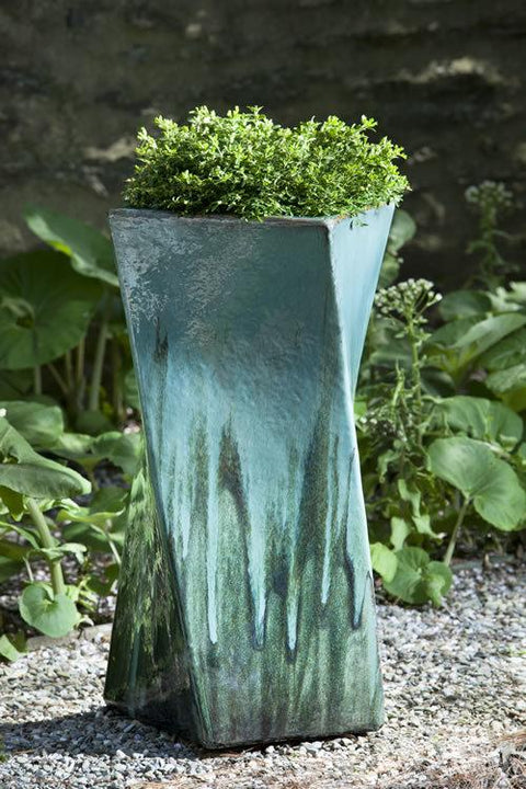 Set of 2 Soleil Planters in Falling Jade with FREE Plants
