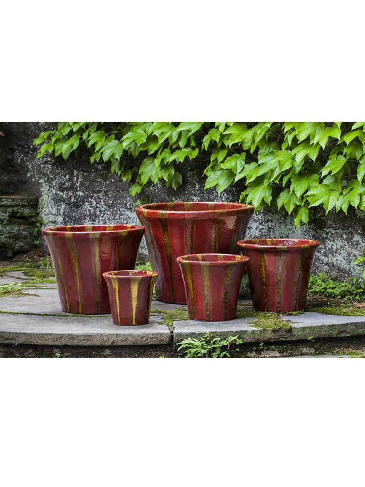 Delphine Planter Set of Five in Molten Red