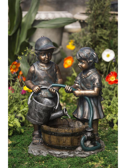 Garden Hose and Kids Water Fountain