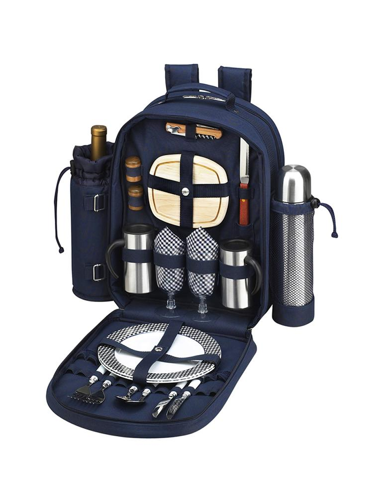 Bold Coffee/Picnic Backpack for Two