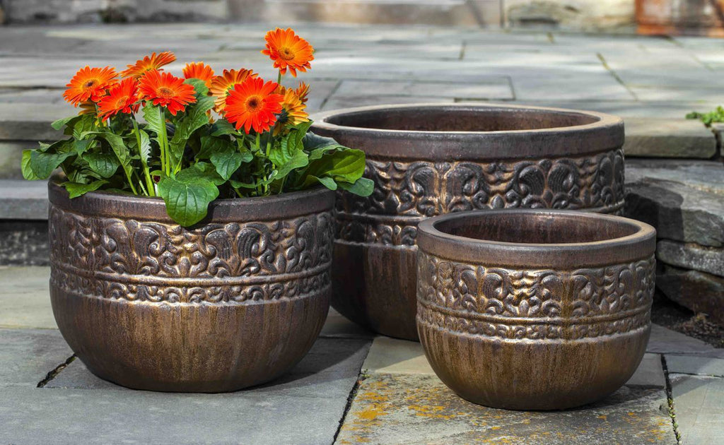 Quebrada Planter - Set of 3 in Bronze