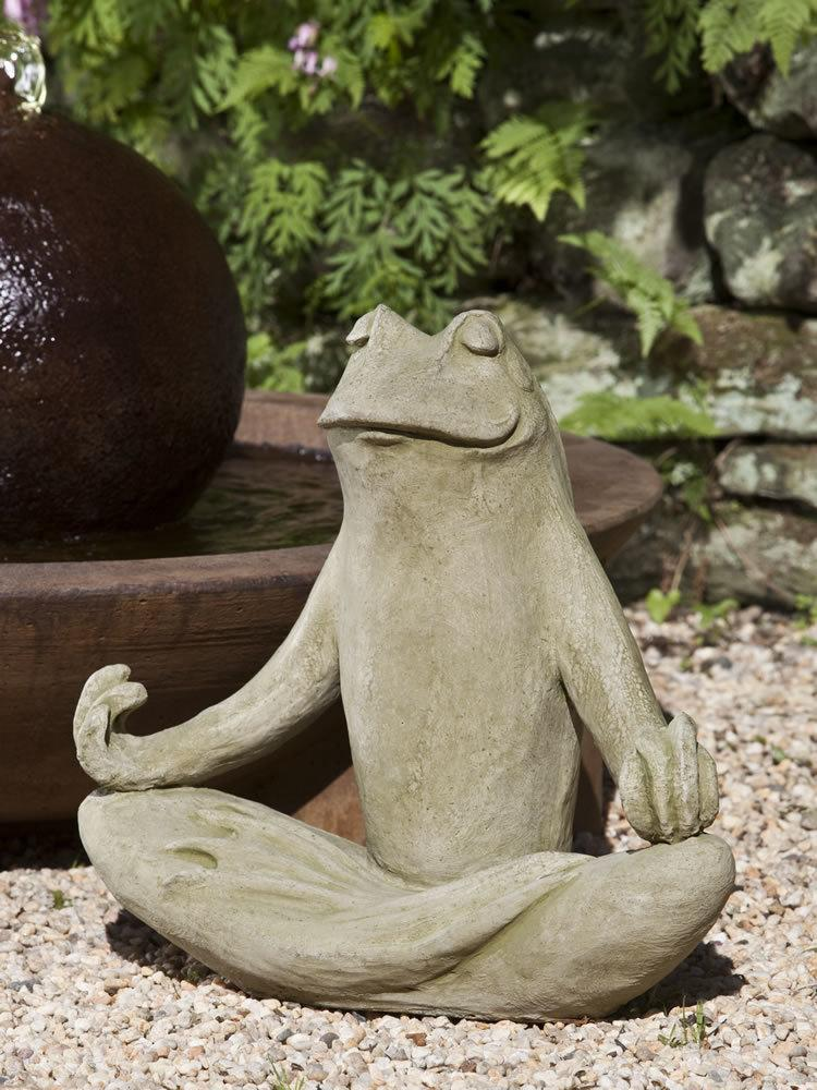 Totally Zen Frog Garden Statue