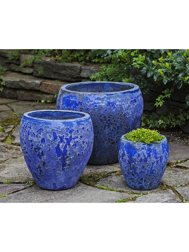 Symi Planter - Set of 3 in Angkor Blue