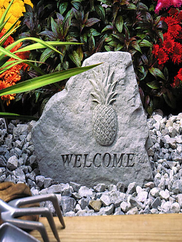 Pineapple Welcome Stone Plaque