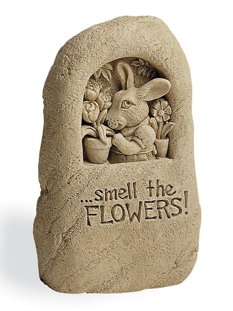 Smell the Flowers Garden Stone/Plaque