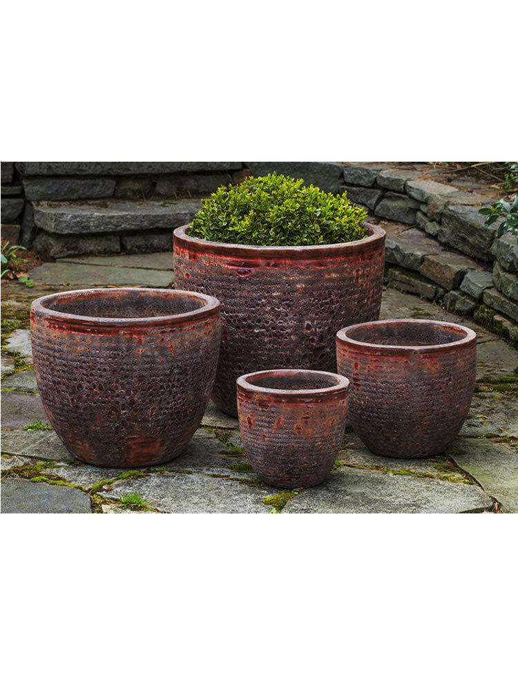Aspara Planter Set of Four in Angkor Red