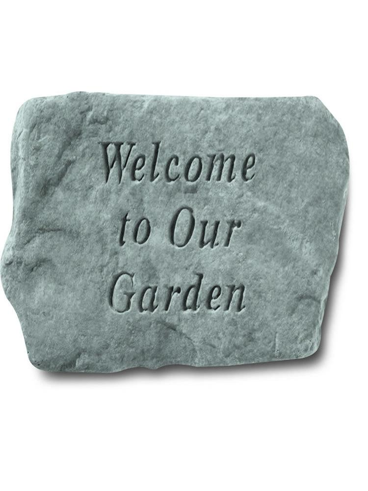 Welcome to Our Garden Stone Plaque