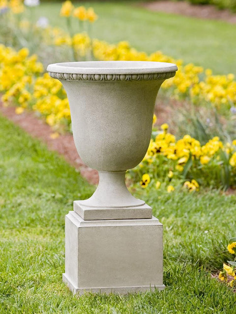 Williamsburg Egg & Dart Urn On Classic Short Pedestal