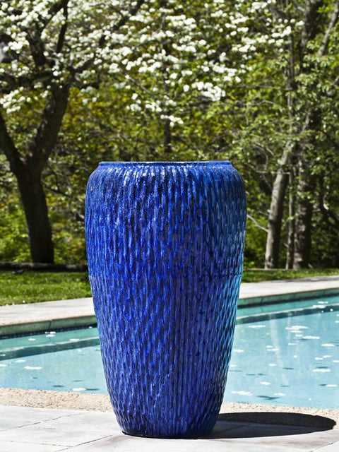 Talavera Jar in Riviera Blue